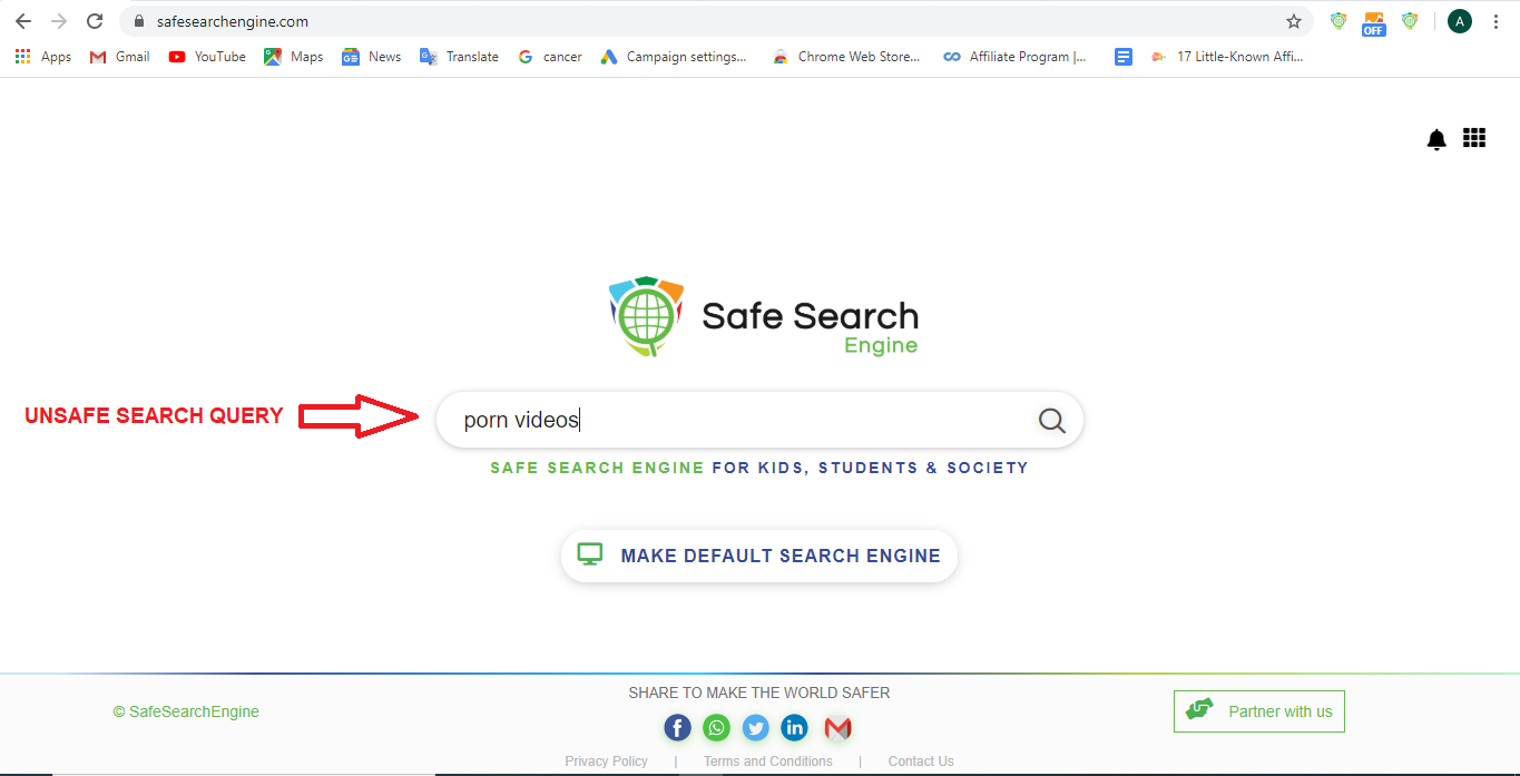 Safe Search Query