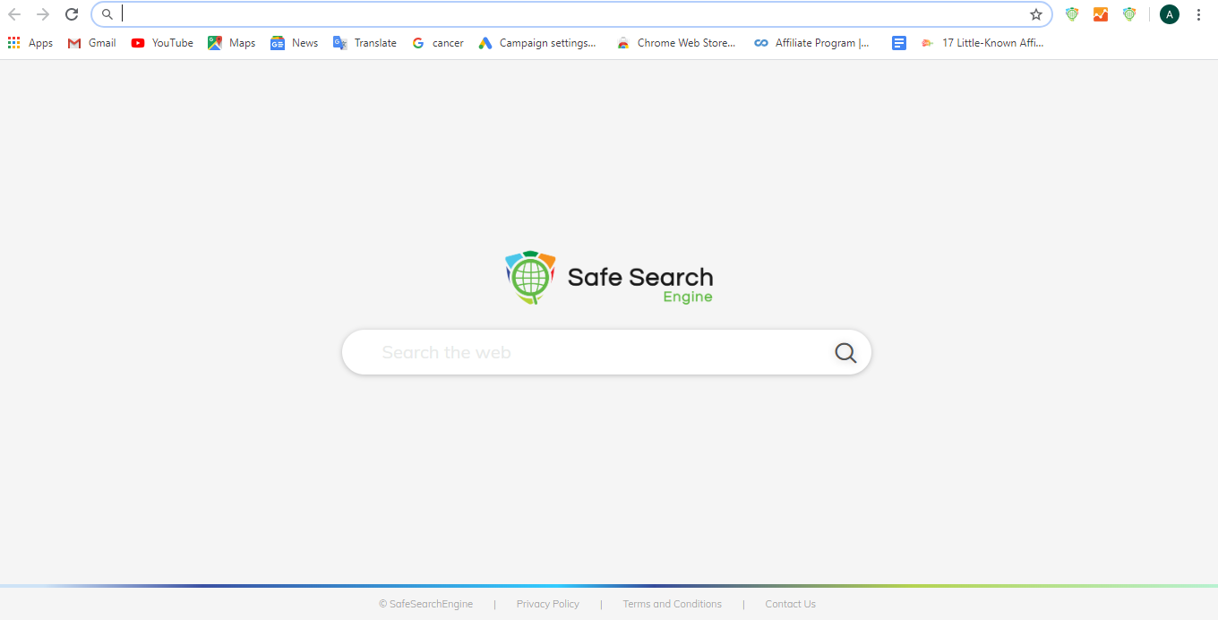 Default safesearch screen