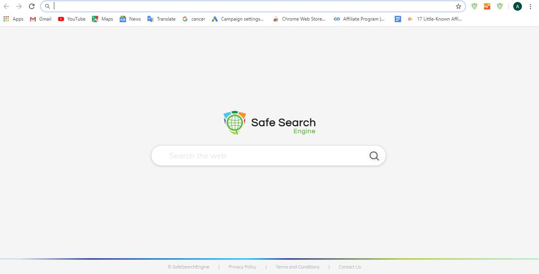 Default safesearch screen