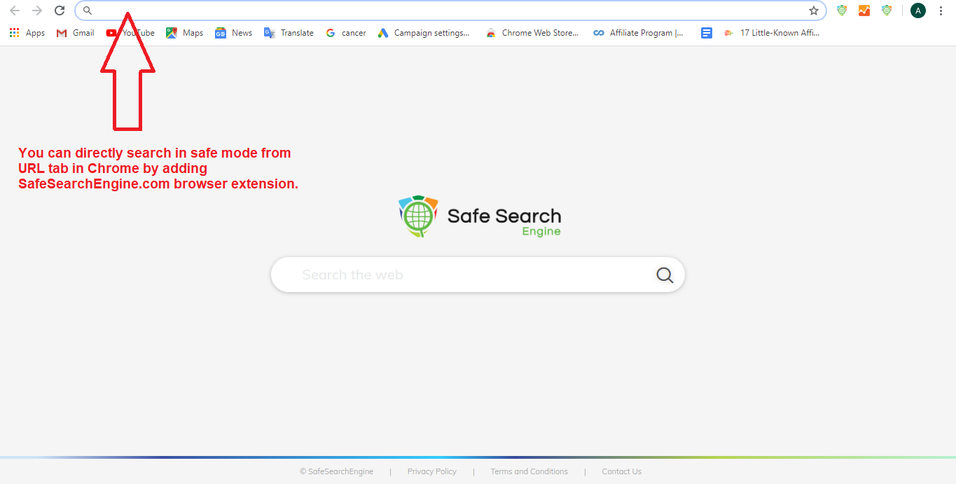 Safe Search in Chrome