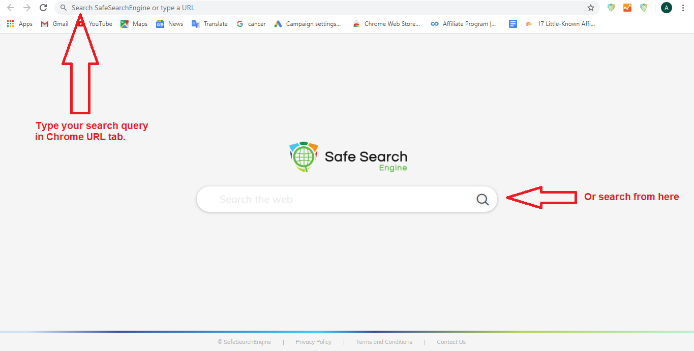 safesearch from tab