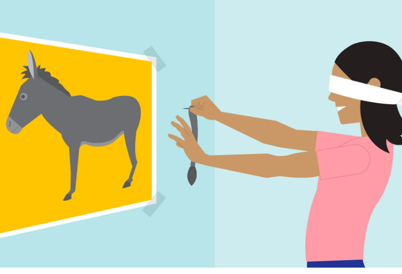 Party games for kids - Pin the tail on the Donkey