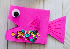 Fish - Paper crafts for kids