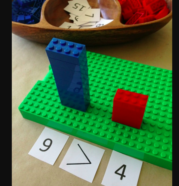 Learn comparison using Legos