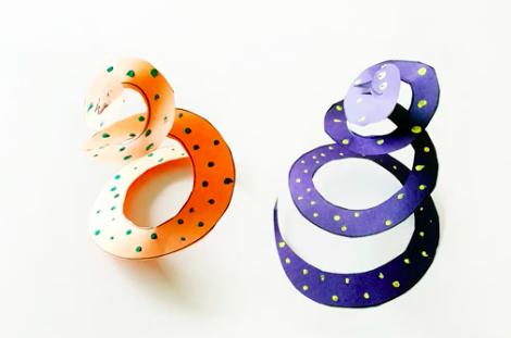 Paper spiral snake