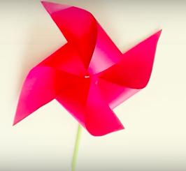 Paper Pinwheel - Paper crafts for children
