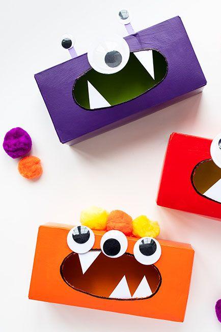 DIY Tissue box monster